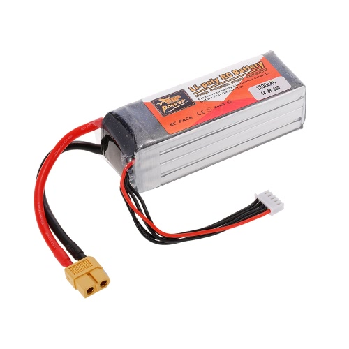ZOP Power 4S 14.8V 1800mAh 65C LiPo Battery XT60 Plug