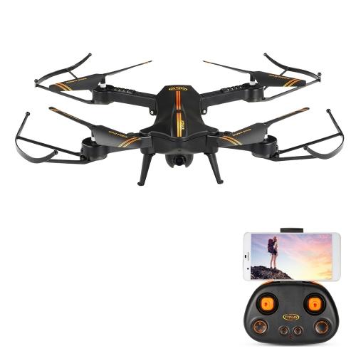 Jetblack 720P 120 ° caméra grand angle Wifi FPV pliable Drone Altitude tenir une clé Retour G-capteur Selfie Quadcopter RTF