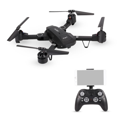 6-Axis Gyro WIFI FPV 0.3MP Caméra Quadcopter G-capteur pliable RC Selfie Drone RTF