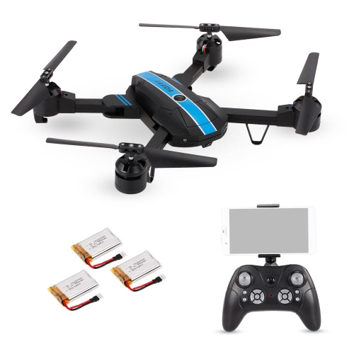 FQ777 FQ24 6-осевой гироскоп WIFI FPV 0,3-мегапиксельная камера Quadcopter Складной G-сенсор RC Selfie Drone Two Extra Battery RTF