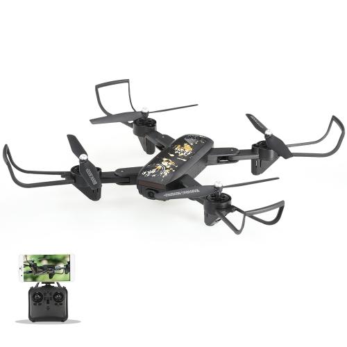 DM IN107S 2.4G 4CH 0,3MP Kamera Wifi FPV Składany Selfie Drone z wysokością Przytrzymaj Jednokierunkowy Return Vibrating Controller RTF