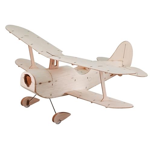 Copernicus Balsawood 296mm Wingspan Dwupłatowiec Warbird Samolotowy Lekki Drewniany Zestaw w / EPS7 Brushed Motor 5030 Prop