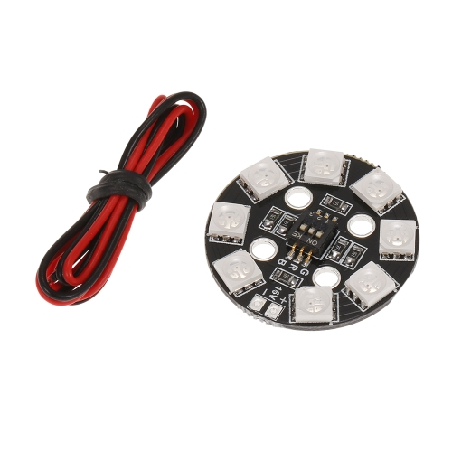 Matek RGB LED Circle Board 7 colores X8 16V para FPV RC Multicopter Quadcopter RC Coche