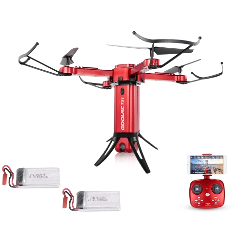 Original GoolRC T51 Rocket 360 2.4G 720P Camera Wifi FPV 360 Degree Panoramic Aerial Photography Altitude Hold Foldable RC Drone w/ Two Battery