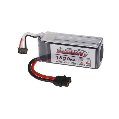 Infinity 4S 14.8V 1500mAh 70C Graphene LiPo Battery SY60 for XT60 Plug 250 280 Racing Drone RC Quadcopter Helicopter Car Boat