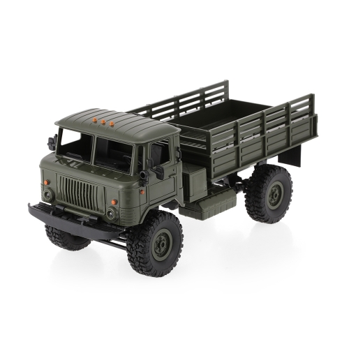 WPL B-24 1/16 RC Military Truck Rock Crawler Army Car Kit Veículo com motor e servo
