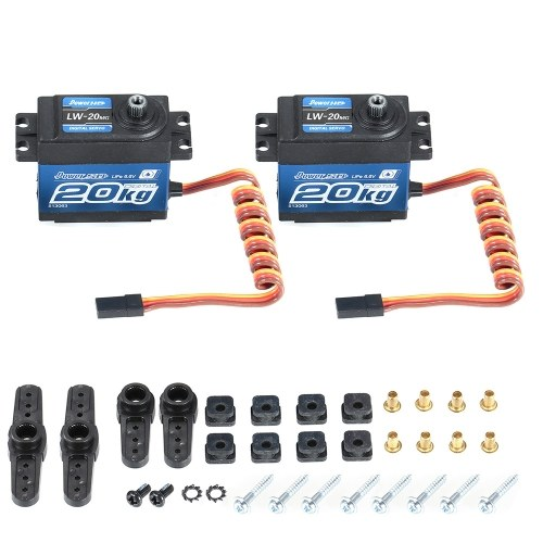 2pcs Power HD LW-20MG 20Kg Servo digital impermeable de alto par