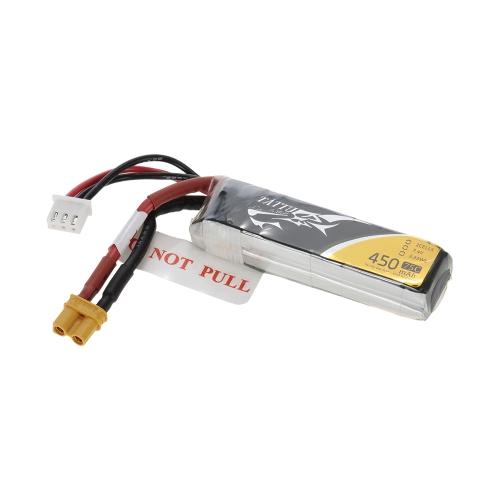 ACE TATTU 450mAh 7.4V 75C 2S1P Lipo Battery con connettore XT30 Plug per FPV Racing Drone