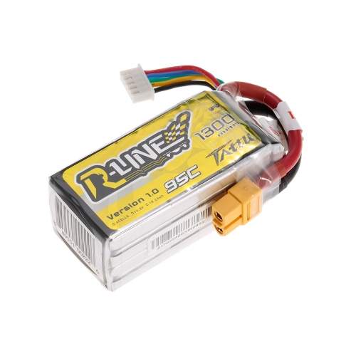 ACE TATTU 1300mAh 14.8 V 95C 4S1P 4S Lipo Batterie avec XT60 Connecteur Plug pour FPV Racing Drone