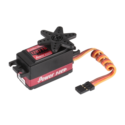 Power HD 1207TG 8KG High Torque Digital Servo con Metal Gear para 1/10 Touring Drift Car RC Airplane