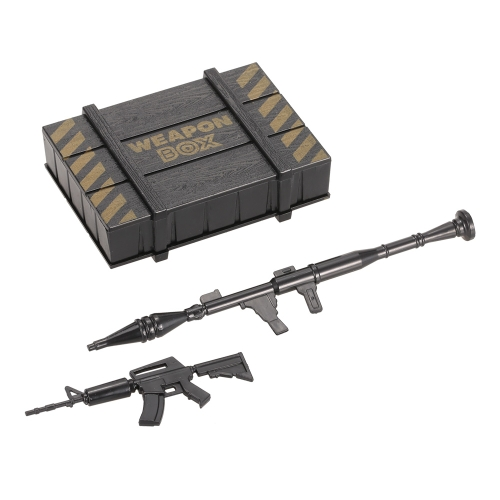 Simulation Weapon Box Artillery Case and Gun Kit RC Decoration for 1/10 Axial SCX10 RC Crawler Off-road Car Truck