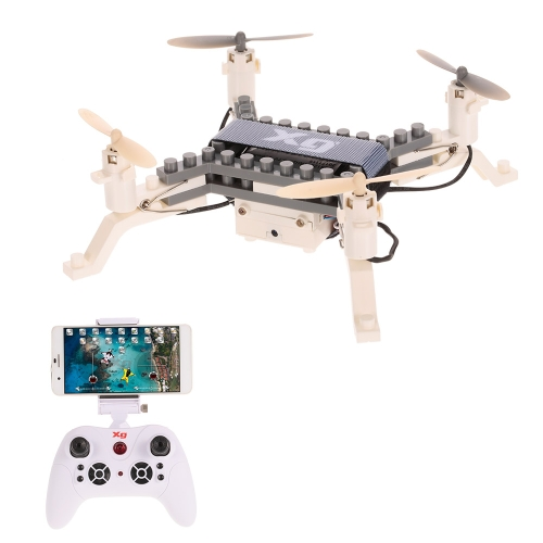 XG171G 0.3MP Kamera Wifi FPV DIY Building Block Drone Wysokość Hold One Key Return Clip Quadcopter Toy