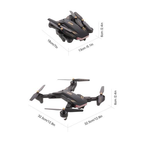 VISUO XS809S 0.3MP Camera Wifi FPV Foldable Drone One Key Return Altitude Hold G-sensor Quadcopter