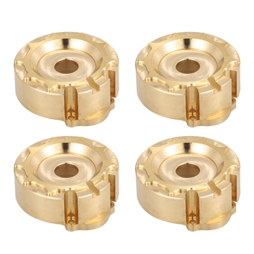 4pcs Brass Counterweight Steering Block Wheel Knuckle Axle Balance Weight for 1/10 RC Traxxas TRX-4 Trail RC Crawler Truck