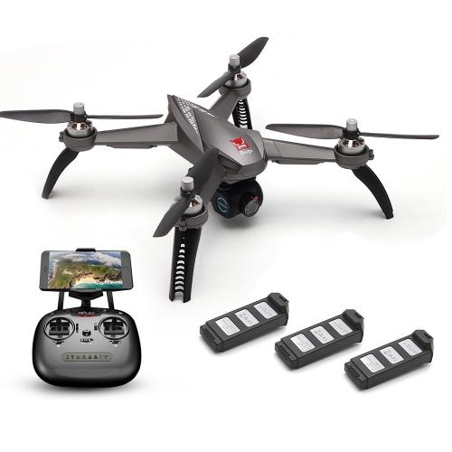 MJX Bugs 5W 1080P  RC Drone w/ Three Batteries