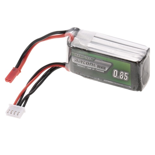 11.1V 850mAh 30C 3S Rechargeable Li-Po Battery with JST Plug for RC Drone Quadcopter Helicopter Airplane Car Truck