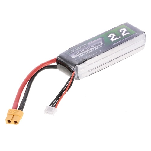 11.1V 2200mAh 60C 3S Rechargeable Li-Po Battery with XT60 Plug for RC Racing Drone Quadcopter Helicopter Airplane Car Truck