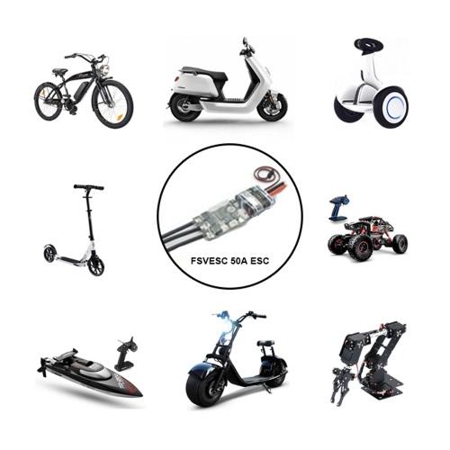 FLIPSKY FSVESC V4 50A SK8-ESC w/ 5V/1.5A BEC for Electric Skateboard RC Car E-bike E-scooter Robot
