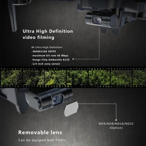 Hubsan Zino Pro 5G WiFi 4km FPV GPS Drone 4K UHD Camera Drone 23 mins Flight Time with Bag(2 Batteries)