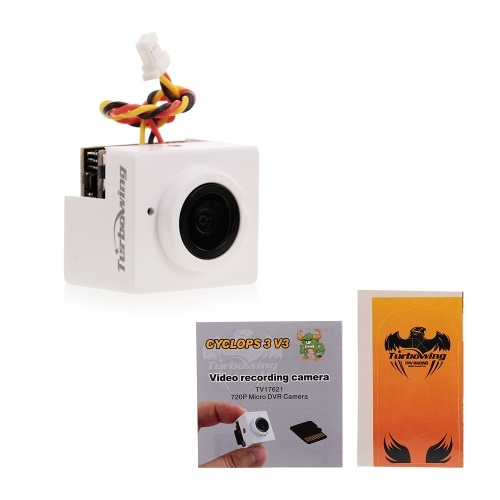 Turbowing CYCLOPS 3 V3 TV17621 720P 170° Wide Angle Micro DVR Camera for Drone Aerial Photography