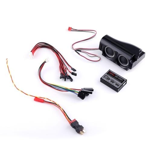 3 in 1 Motor Simulator System Emulational Beleuchtung Rauch und Sound Set für RC Auto Traxxas TRX4 Tamiya XB HB Racing D418