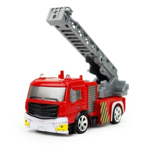 Crea giocattoli Shenqiwei 8027 1/58 Mini Tank Truck / Ladder Truck Fire Engine Telecomando Mini auto veicolo regalo di Natale