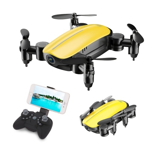 SihuanDar RS535 Foldable Drone with Camera 480P Gesture Photography Altitude Hold Headless Mode Training Toy Quadcopter