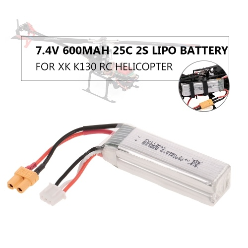7.4V 600mAh 25C 2S Lipo Battery