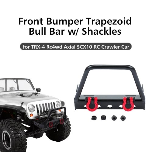Bull bar trapezoidale paraurti anteriore in acciaio con grilli per 1/10 TRX-4 Rc4wd Axial SCX10 RC Car Crawler Car