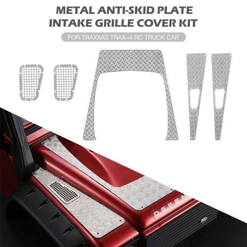 Kit piastra di copertura della griglia di aspirazione della piastra antiscivolo in metallo per auto camion Traxxas Trax-4 RC