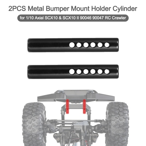 2PCS Metal Bumper Mount Holder Cylinder Post with Screws for 1/10 Axial SCX10 & SCX10 II 90046 90047 RC Crawler Car