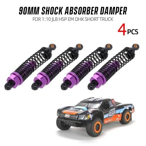 4pcs amortisseur amortisseur 90mm RC pièces de voiture pour 1:10 JLB HSP EM DHK HPI camion court de voiture
