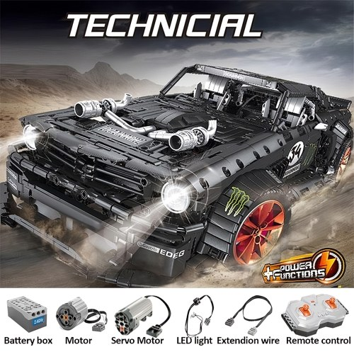 3181 Pcs RC Sports Car 2.4G 4CH RC Racing MOC Building Blocks and Engineering Toy Adult Collectible Model Cars Kits(Remote Control Version)