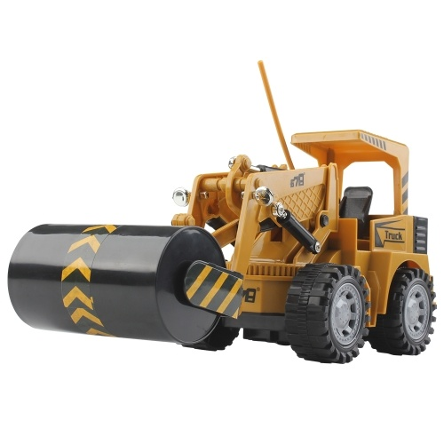 1:24 5CH Remote Control Electric Road Roller Construction Car Toy