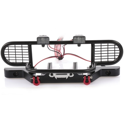 RC Car Metal Bumper with 2 LED Light Remote Control Winch