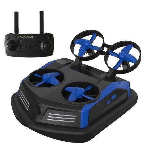 Mirarobot Domain S200 3-en-1 mini-drone commutable mode drone / télécommande de bateau voiture télécommandée (version 600TVL FPV)