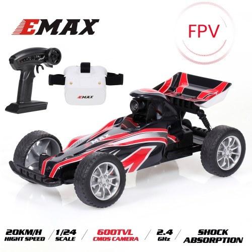 EMAX Interceptor 2.4G 1/24 FPV Racing RC Car with 600TVL Camera Race Car with FPV Glasses
