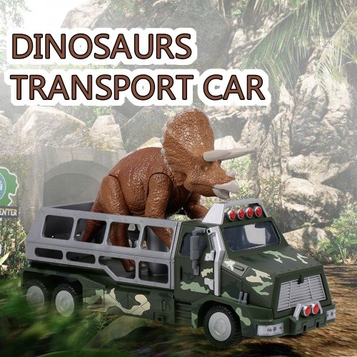 Dinosauri Trasporto Car Carrier Truck Toy Triceratops Tirare indietro Dinosaur Cars Gift for Kids