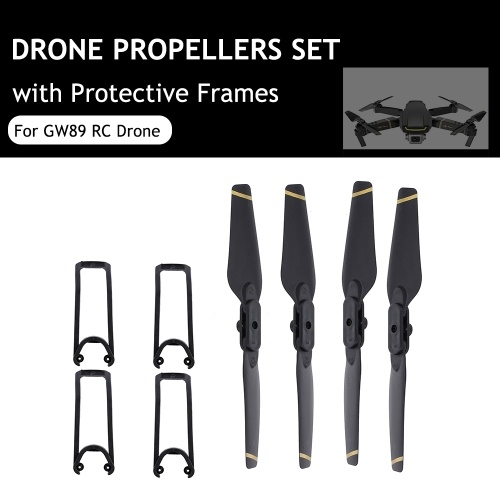 GW89 Drone Propellers Set 2A Propellers 2B Propellers 4 Protective Frames RC Drone Accessories