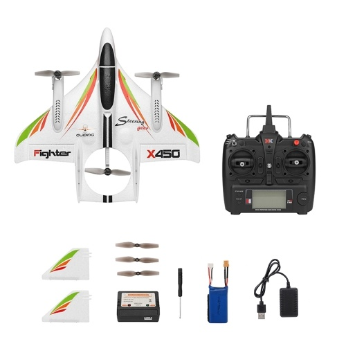 WLtoys XK X450 2.4G 6CH 3D/6G RC Airplane RC Glider Fixed Wing  Aircraft RTF
