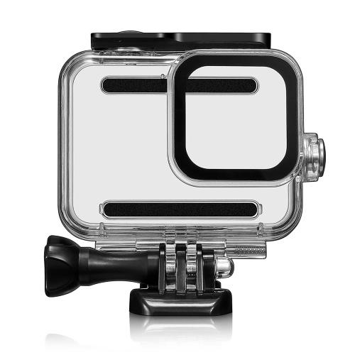 Carcasa dura impermeable subacuática de 60 m para GoPro Hero 8 carcasa protectora negra carcasa lente de cámara 60 M accesorios de natación de buceo