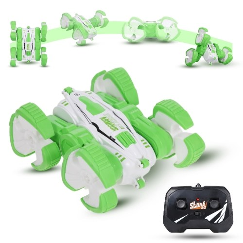 2.4G Remote Control Stunt Car 4WD Double Sided Rotating 360° Flips