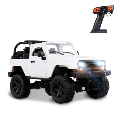 Caminhão de controle remoto de escala F2 1/14 4WD 2.4GHz Off Road RC Caminhões 30km / h High Speed Vehicle Crawler com LED Light RC Racing Car