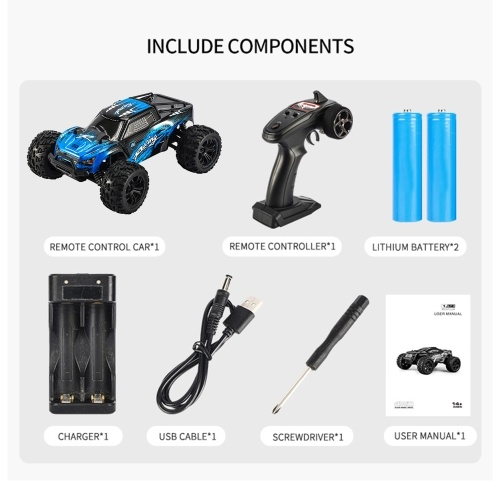 JJRC Q122A 2.4Ghz 36KM/H High Speed 1:16 Off Road RC Trucks 4WD Vehicle Racing Climbing RC Car Gifts for Kids Adults