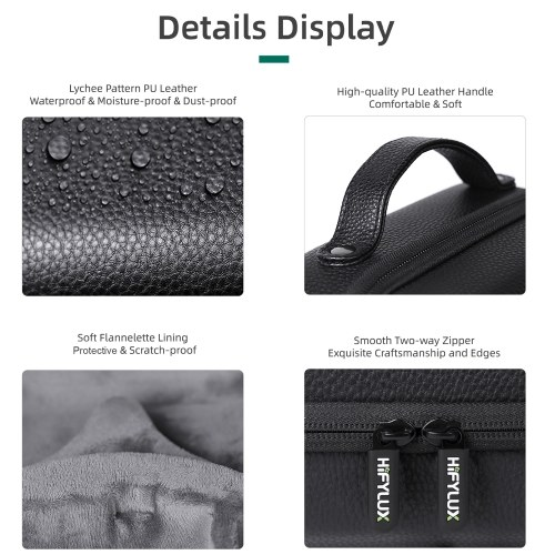Compatible with Oculus Quest 2 Glasses Carrying Case Gaming Headset Bag Portable Protective Bag for Traveling PU Leather Storage Cover