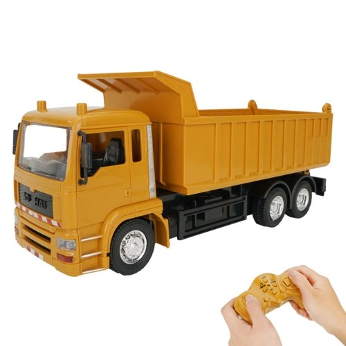 1:24 2.4G 10CH RC Dump Truck Tipper Car Construction Engineering Vehicles with One Key Demonstration Simulation Sound Educational RC Truck Toys Image