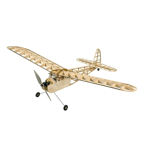 DWH RC Airplane 1.15M Cute Girl Blasa Wood Aircraft 1150mm Wingspan Outdoor Flight Toys with Motor ESC Servo and Propeller