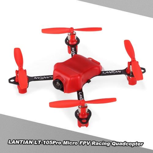 LANTIAN LT105Pro 105mm 600TVL Camera Micro FPV Racing Drone Quadcopter w/ F3 EVO Flight Controller DSM2 Receiver Board BNF