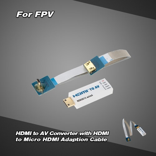 RCD3015 Mini HD to AV Converter with HD to Micro HD Adaption Cable for FPV Aerial Photography