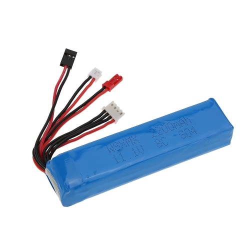 11.1V 2200mAh 8C 3S Li-po Batería 3 Conector para JR Futaba Walkera RadioLink Transmisor